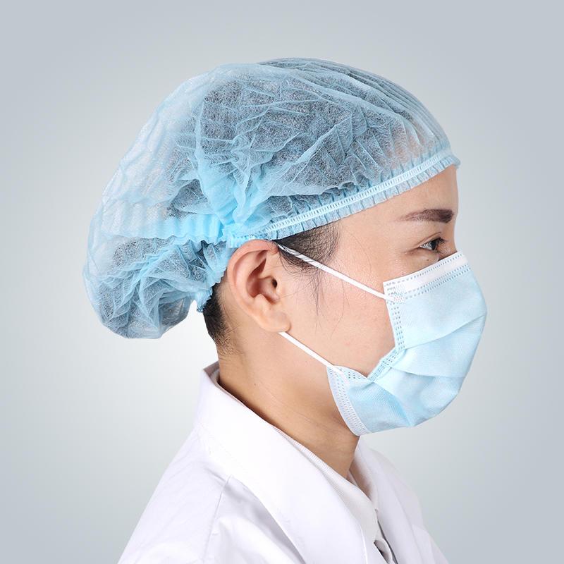 يمكن التخلص منها غطاء ممسحة منتفخ غير المنسوجة قبعات الموردين