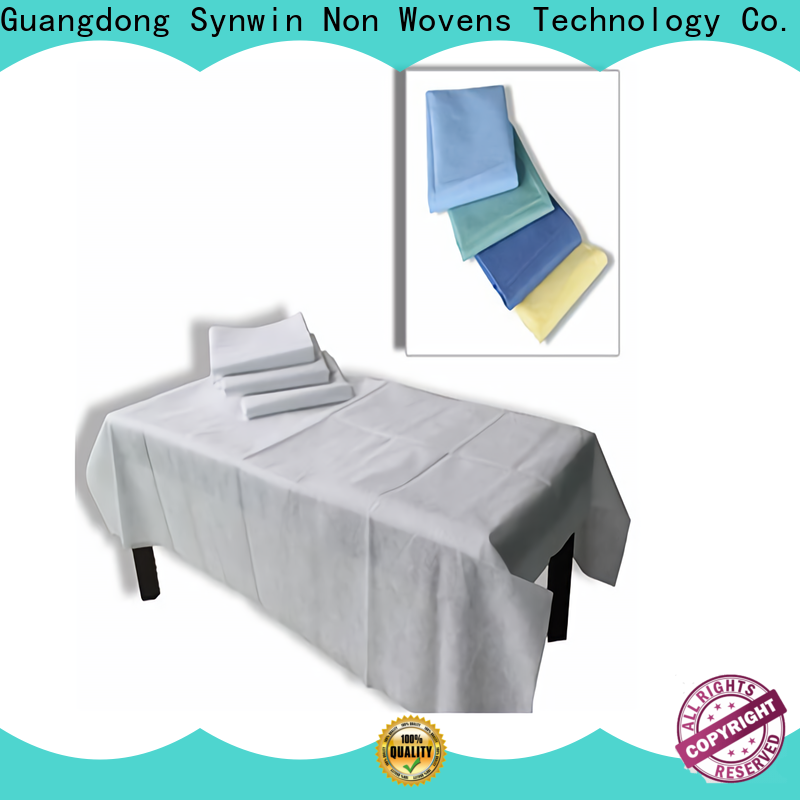 Top non woven bed sheet disposable factory for tablecloth