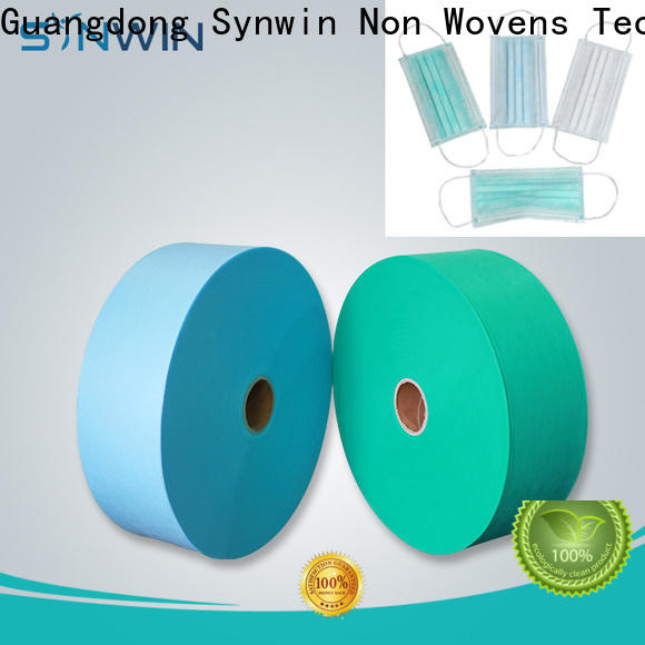 New blue face mask material for business for tablecloth