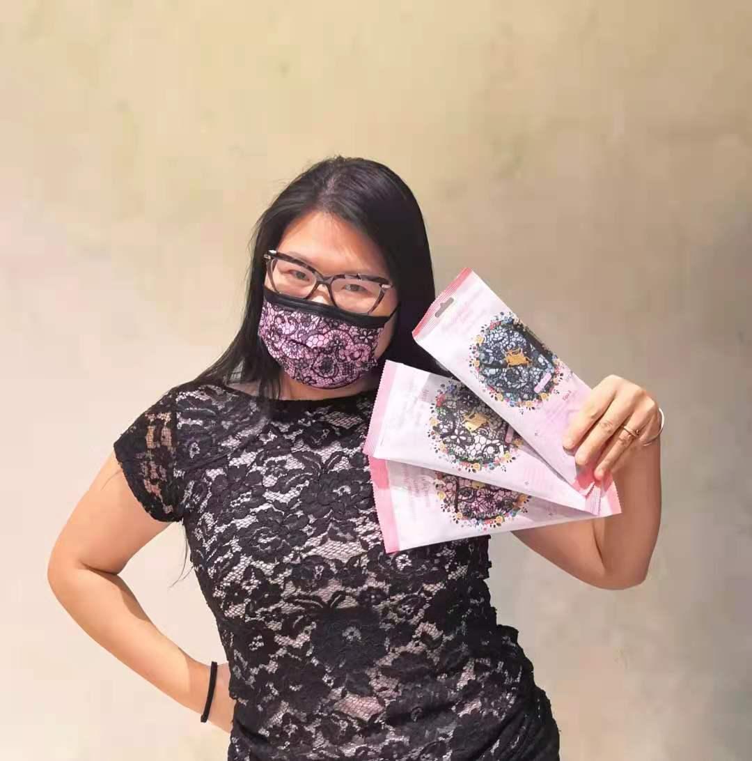 product-Fashion design printed non woven fabric for disposable face mask, 100 polyester non woven fa