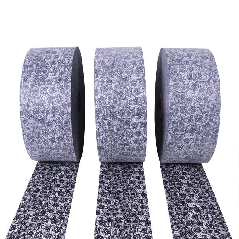 Modedesign bedruckter Vliesstoff für Einweg-Gesichtsmaske, 100% Polyester-Vliesstoffrollen