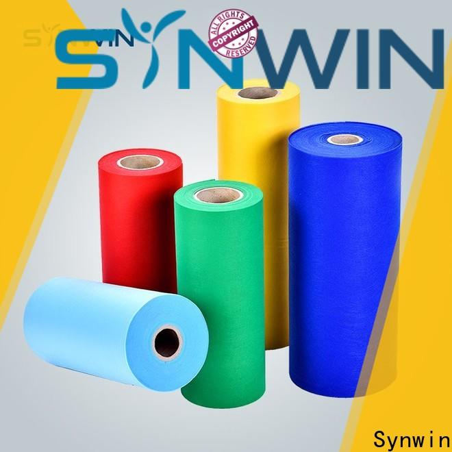 Synwin single pet spunbond nonwoven fabric suppliers for tablecloth