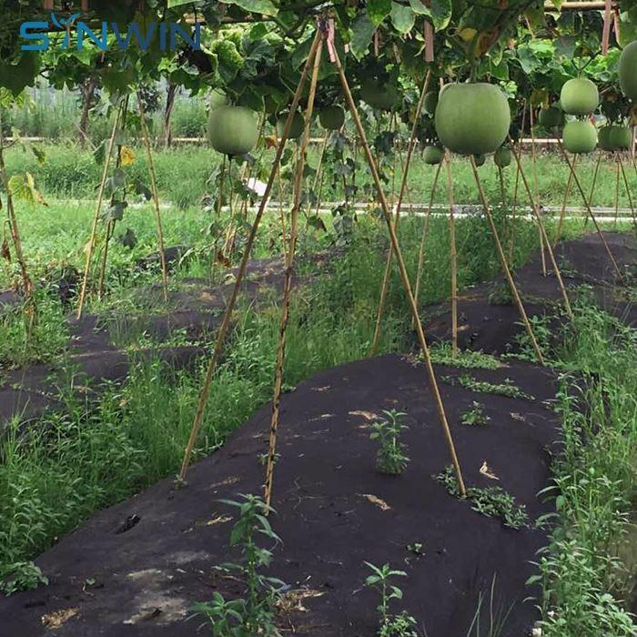 Non Woven Black Weed Mat Fabric 150GSM Premium Garden Weed Control