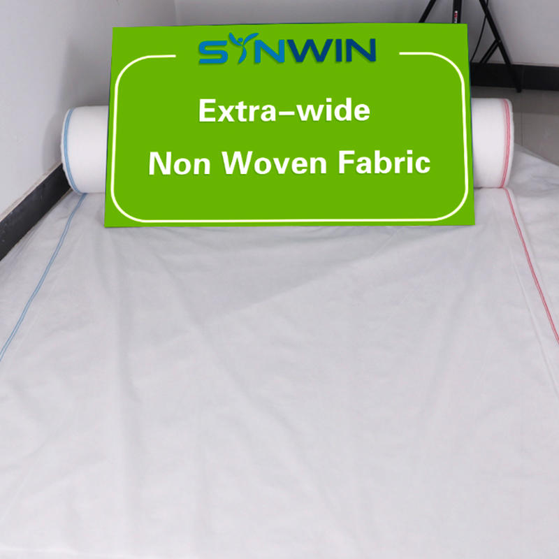 Large width non woven fabric for agriculture application