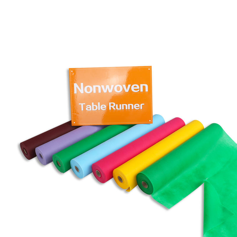 Customized Tnt Pp Non Woven Fabric Table Runner Disposable Dining Table Cover