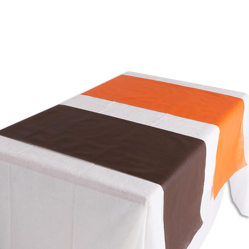 Customized tnt table cloth pp non woven fabric table runner disposable dining table cover tablecloth roll for party and restaurant