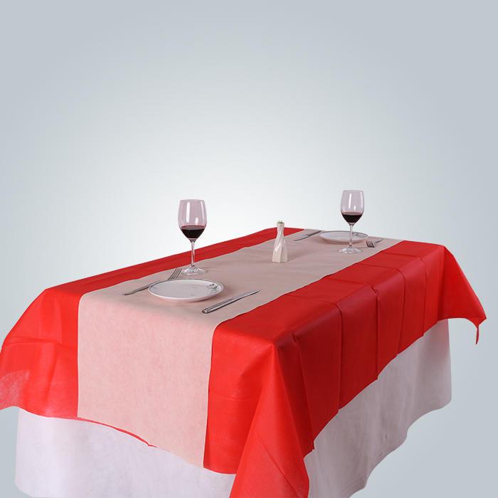 Disposable Tnt Biodegradable Non Slip Nonwoven Tablecloth