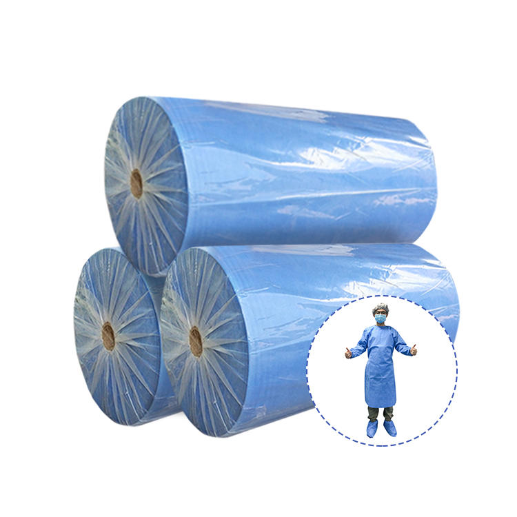 SMS 100% PP Spunbond Nonwoven Fabric Manufacturer directly sale SMS Medical Nonwoven Fabric