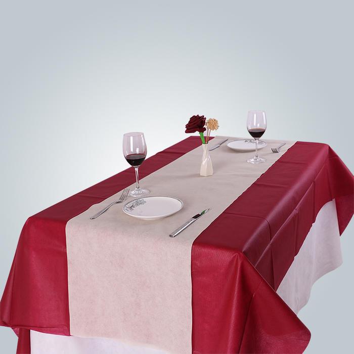 Customize 100% Polypropylene non-woven spunbonded tablecloth Eco-friendly Hometextile TNT Table Cloth nonwoven