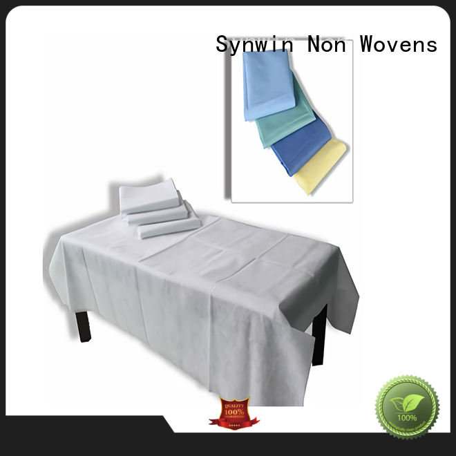 Synwin quality disposable bed sheets factory price for hotel
