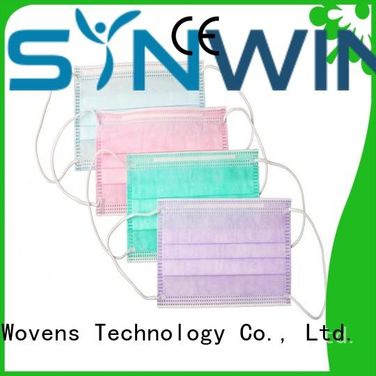 Synwin disposable face mask fabrics from China for hotel