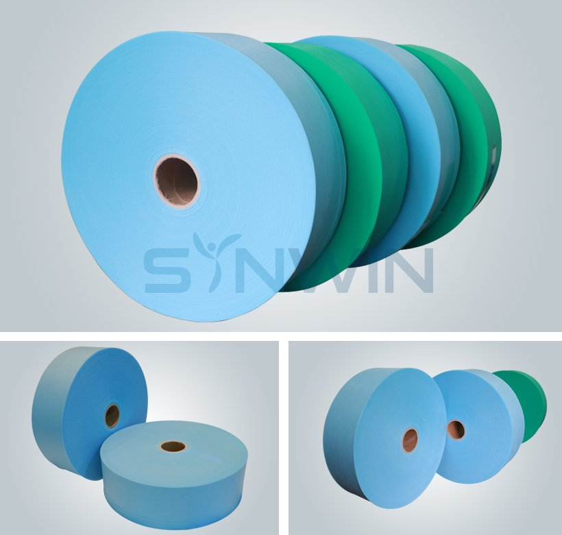 Synwin Non Wovens-30gsm Blue Color SS Nonwoven Fabric For Disposable Shoe Cover-3