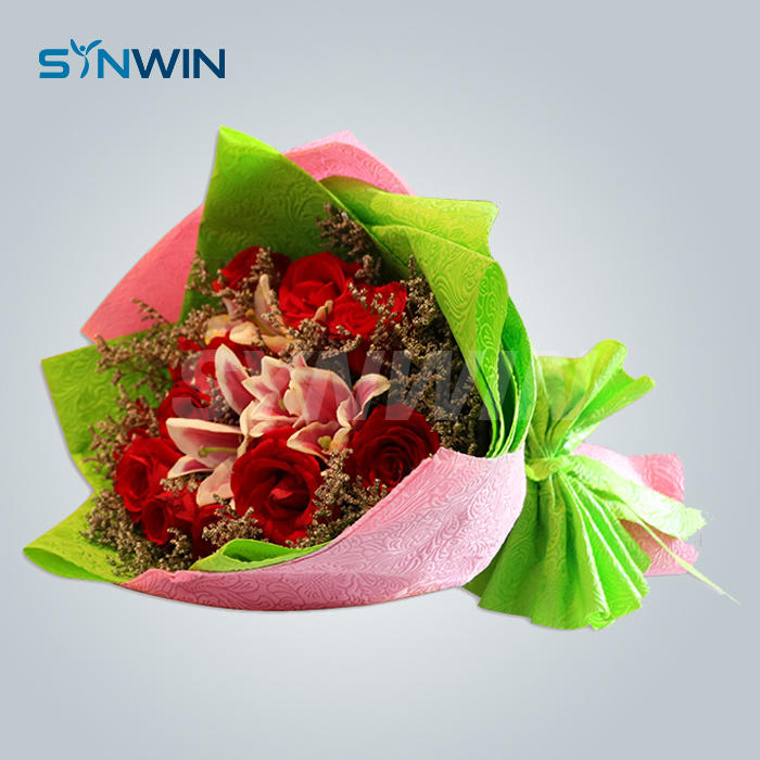 Custom Packaging Flower Wrapping Non Woven With Color Embossed