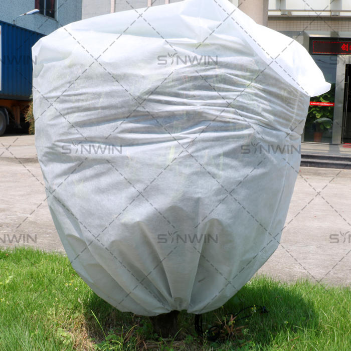 PP Non woven Plant cover with UV protection / Drawstring Closure