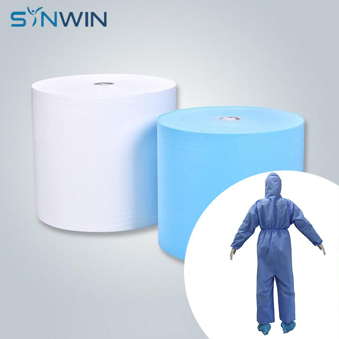 fabric for disposable isolation gown