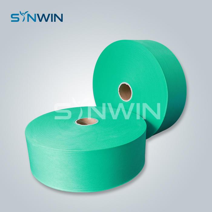 Rotolo non tessuto di colore verde del tessuto chirurgico eliminabile della maschera di protezione per la maschera