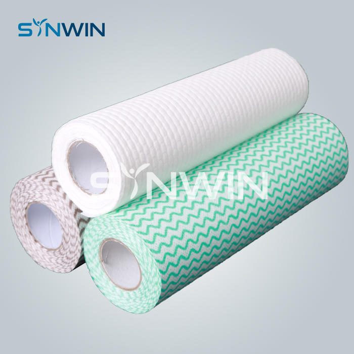 Spunlace Non Woven Fabric Washcloth Roll for Disposable Wet Wipes