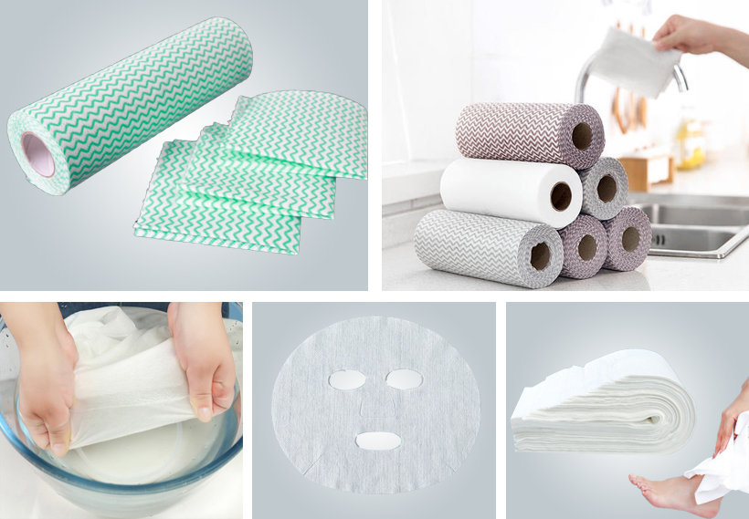 product-Synwin-Factory Spunlace Nonwoven Washcloth Roll Disposable Wet Wipes Spunlace Nonwoven-img-1