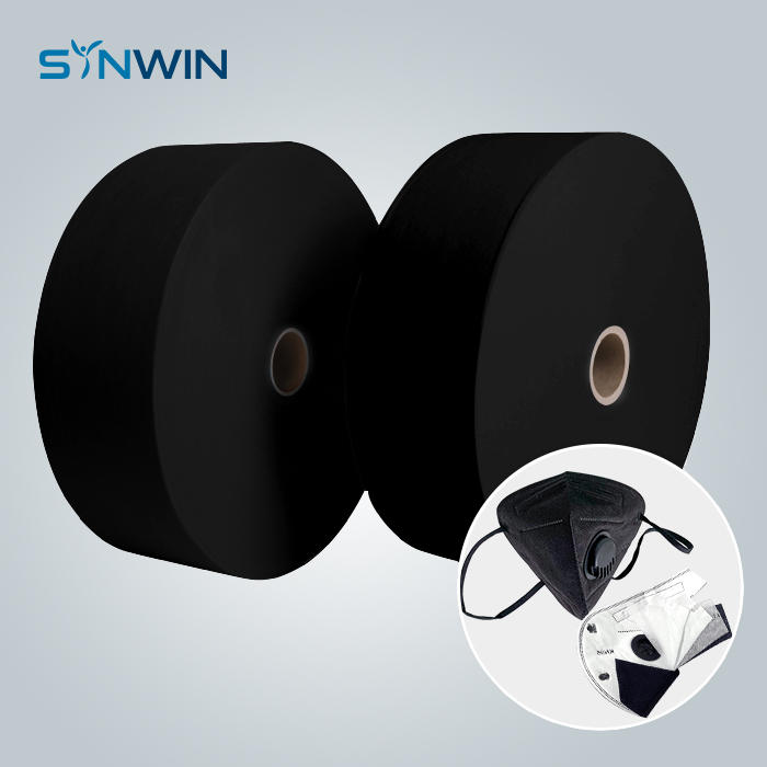 KN95 Medical Black Meltblown PP Nonwoven Fabric Supplier