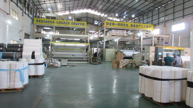 New facility non woven production line video