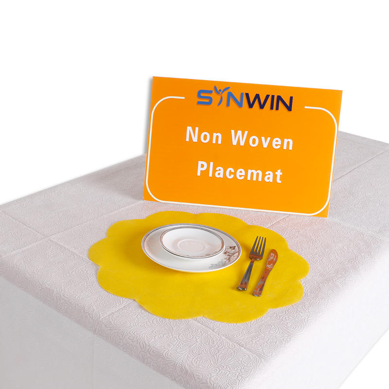 Custom Disposable PP Non Woven Fabric Placemat Manufacturers