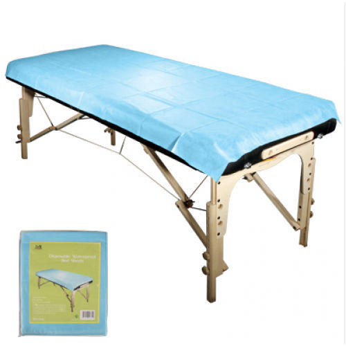 blue disposable massage bed sheet 45 gsm pp pe non woven fabric