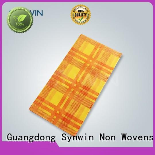 Custom biodegradable round table covers consumable Synwin Non Wovens
