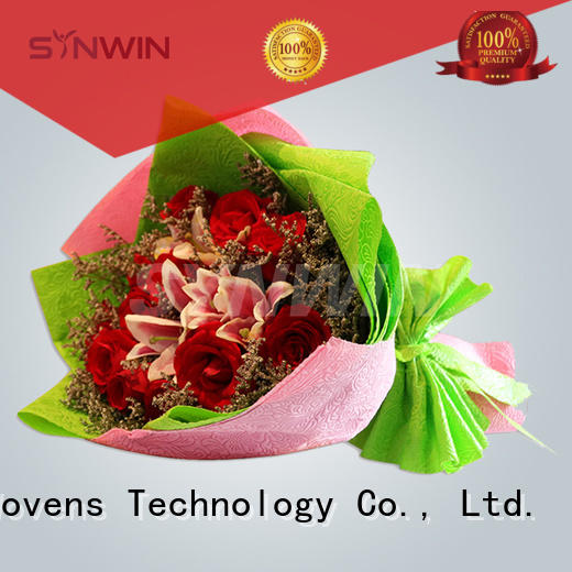 high quality flower Synwin Non Wovens Brand christmas gift wrapping paper