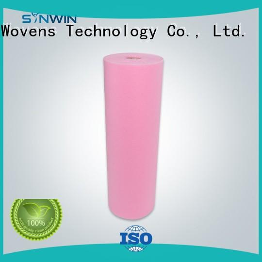 Light Weight Pink Green Color Nonwoven For Disposable Bedsheet