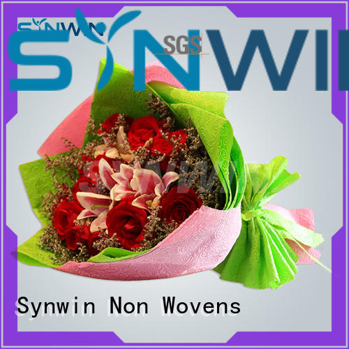 Custom 100 quality gift wrapping paper Synwin Non Wovens gsm